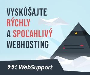 Rýchly a spoľahlivý hosting od  WebSupport.sk
